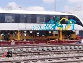 """""""النقل"""" تجهز لاحتفالية كبرى بميناء الإسكندرية للإعلان عن وصول أولى قطارات المونوريل والقطار الكهربائى.. وتنظم اصطفافا للقطارات الجديدة شاملة عربات مترو وسكة حديد.. وتشغيل أول مرحلة بالمونوريل منتصف العام المقبل"""