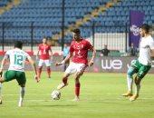 الأهلى يتقدم على المصرى 3 - 2 في شوط أول مثير .. فيديو