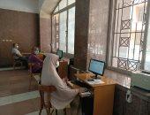 توافد طلاب الثانوية على معامل التنسيق لتسجيل الرغبات بجامعة المنوفية..لايف
