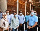 العناني يتفقد مشروعات تطوير المباني الأثرية بالقاهرة التاريخية والفسطاط (صور)