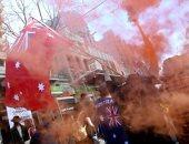 """""""دلتا"""" والمظاهرات يطغيان على أستراليا.. صحف: استمرار الاحتجاجات الرافضة للإغلاق فى سيدنى وملبورن واعتقال المئات بعد اشتباكات عنيفة.. وزيادة الحالات المصابة بكورونا لأعلى مستوى مسجل خلال يوم واحد"""