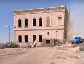 أعمال تطوير طريق الكباش الفرعونى..والبداية من قصر يسي اندوراس التاريخي.. لايف