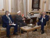 رئيس جامعة القاهرة والمفتى يبحثان مقترح اتفاق تعاون عن تجديد الخطاب الدينى