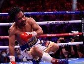 ماني باكياو يلمح لاعتزاله الملاكمة بعد الخسارة فى مباراة الوزن الوسط