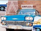 """""""عمرها 60 سنة"""".. سيارة عبد الناصر شاهدة على تاريخ إنشاء السد العالى.. إعادة صيانتها ووضعها فى المتحف المكشوف بالمركز الثقافى الإفريقى بأسوان.. لونها بترولى وسرعتها الـ120 كم وناقل الحركة رباعى.. فيديو وصور"""