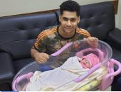 محمد إيهاب بطل الأثقال يرزق بمولودته الأولى دهب