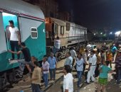 مصرع شابين صدمهما قطار أثناء عبورهما السكة الحديد في البدرشين بالجيزة
