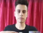 شاب جزائرى يبدع فى رسم صور نجوم العالم بالورقة والمقص.. فيديو