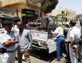 إزالة 750 حالة إشغال ومصادرة مضبوطات فى حملة بأسوان.. صور