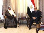 الرئيس السيسي لرئيس وزراء الكويت: أمن الخليج يمثل لمصر أحد الركائز الأساسية للأمن القومى العربى