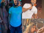 """""""زغروطة"""" من زينة فى حفل تامر حسنى بعد طلب منه أمام الجمهور.. فيديو"""