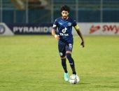 أحمد حمودى لاعب بيراميدز بعد عودته للملاعب منذ عامين: بداية الرجوع لمستوايا