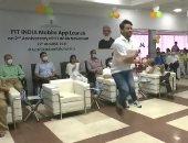 """فيديو.. وزير هندى يمارس """"نط الحبل"""" باحترافية لدعم تطبيق اللياقة البدنية"""