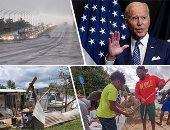 """أمريكا فى وجه العاصفة.. الأرصاد تحذر من إعصار """"إيدا"""" مع اقترابه من ولاية لويزيانا.. اشتداد الرياح وسرعتها تبلغ 209 كيلو مترات.. بايدن يعلن الطوارئ فى مسيسيبى ويرسل خبراء.. وخليج المكسيك يقرر إيقاف إنتاج النفط"""