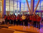 رئيس اتحاد الريشة الطائرة يشكر اللاعبين بعد تحقيق المركز الأول فى بطولة أفريقيا