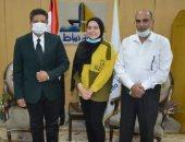 منحة مجانية بكلية الآثار بدمياط للطالبة ريهام السادسة على الجمهورية بثانوى عام