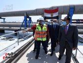 رئيس الوزراء يتفقد أعمال توسعات محطة صرف صحى أبو رواش