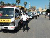 ضبط 120 توك توك مخالف خلال حملات مرورية مكبرة فى كفر الشيخ.. صور