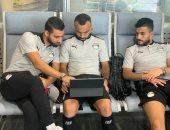 مسحة للاعبى منتخب مصر قبل دخول المعسكر المغلق ببرج العرب
