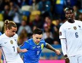 منتخب فرنسا يتأخر بهدف أمام أوكرانيا بالشوط الأول فى تصفيات كأس العالم
