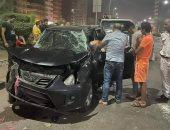 تحطم 3 سيارات ملاكى بسبب زفة عروسين بالمحلة .. صور