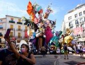 """ألعاب نارية ومنحوتات ملونة..فعاليات كرنفال """"فالاس"""" فى إسبانيا"""