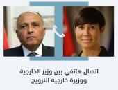 سامح شكرى يبحث مع وزيرة خارجية النرويج التطورات الأخيرة حول القضية الفلسطينية