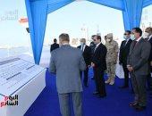 الرئيس السيسى يتفقد أعمال مشروع محطة رصيف 85 / 3 بميناء الإسكندرية