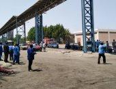 الحماية المدنية تحاول السيطرة على حريق داخل مصنع الألومنيوم بنجع حمادى