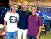 مصطفى محمد فى سهرة كروية مع نجمى الطلائع قبل العودة إلى فريقه التركى