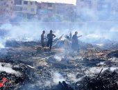 تحريات لكشف ملابسات حريق منطقة الزرايب في أوسيم بالجيزة
