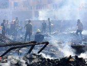 فريق النيابة العامة ينتقل لموقع حريق الشرابية للمعاينة وتحديد الأسباب