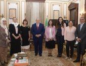 رئيس جامعة القاهرة يبحث مع وفد المجلس الثقافى البريطانى أوجه التعاون