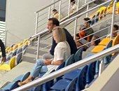 باروندو وزوجته يحضران مباراة السوبر الأفريقي لليد بين الأهلي والزمالك.. صور