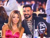 أحمد سعد وزوجته علياء فى أول ظهور منذ زواجهما ويحتفل بجائزة أحسن تتر مسلسل