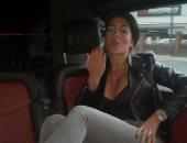 جورجينا رودريجيز فى طريقها إلى ملعب أولد ترافورد لمؤازرة رونالدو أمام نيوكاسل
