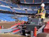التحضيرات الأخيرة لملعب سانتياجو برنابيو قبل ساعات من افتتاحه بمباراة الملكي وسيلتا فيجو