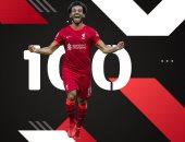 اتحاد الكرة يهنئ محمد صلاح بوصوله للهدف الـ100 فى الدورى الإنجليزى