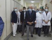 محافظ الجيزة يفتتح قسم العناية المركزة بمستشفى أوسيم المركزى.. صور