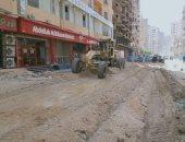 محافظة الجيزة ترصف شارعى باتا بكرداسة وعدوى سليم بالعمرانية