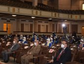 """""""مخاطر الحرب النفسية"""" محاضرة لطلاب معسكر قادة المستقبل بجامعة القاهرة"""