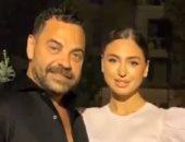 نيكول سعفان تحتفل بعيد ميلاد طارق العريان وتنفى شائعة انفصالهما