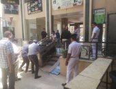 جهاز الشروق يشن حملة لإزالة الإشغالات بالمجمعات التجارية ويحرر 12 مخالفة