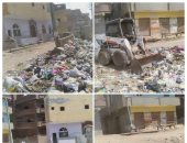 محافظة الجيزة ترفع 121 ألف طن مخلفات وقمامة خلال أسبوعين