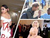"""صور.. العالم هذا المساء.. حفل """"ميت جالا"""" للموضة يدعو العالم إلى تمكين المرأة.. والعائلة المالكة البريطانية تحتفل بعيد ميلاد هاري الـ37.. والأمير الشاب وزوجته في قائمة التايمز للشخصيات الأكثر تأثيرا في 2021"""