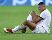 كيليان مبابى يغادر مباراة كلوب بروج ضد باريس سان جيرمان للإصابة