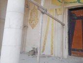 مسجد حديث على الطراز الفرعونى بالفيوم.. والأوقاف تقرر إزالة الرسومات ..صور