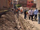 محافظ أسيوط يتفقد توسعات شبكات الصرف ويفتتح كنيسة الناصرية الإنجيلية