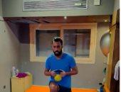 تدريبات تقوية لركبة حسام عاشور بعد عودته من الإصابة بالصليبى