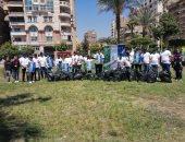 """""""نظافة القاهرة"""" تنظم يوما بيئيا لتنظيف حديقة الورد فى مدينة نصر"""